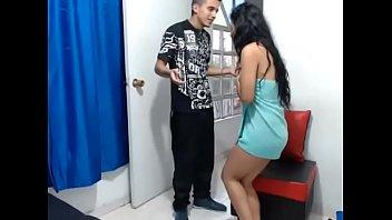 Colombiana gostosa foi flagrada pelo namorado nua na webcam