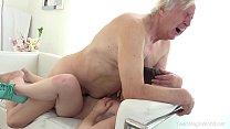 A netinha fazendo sexo com vovo tarado